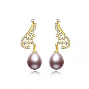 Cercei AG925 perle naturale Zelda (perle 3 culori)