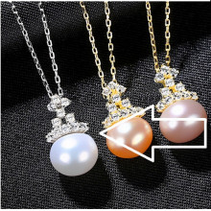 coliere argint perle