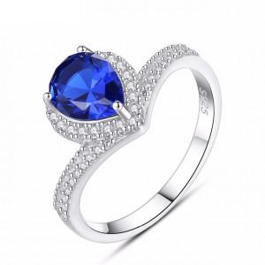 Inel argint piatra albastra Milana