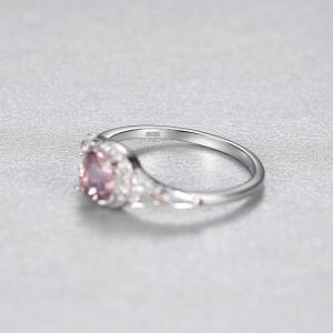 Inel argint roz