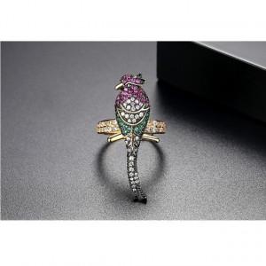 Inel Exotique cu cristale multicolore