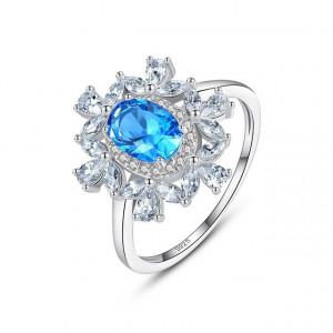Inel piatra albastra Yasmina