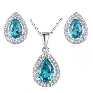 Set bijuterii argint Capri Aquamarine