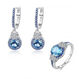 Set cercei si inel argint Anastasia