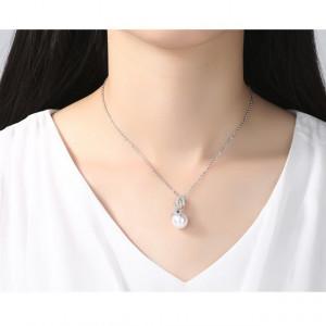 Set de bijuterii cu perle si cristale Claire