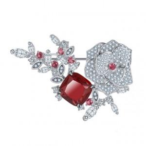 Brosa cu cristale rosii Juliette
