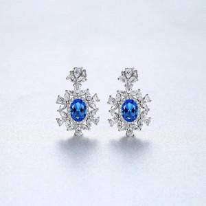 Cercei Albastri din Argint Yasmina