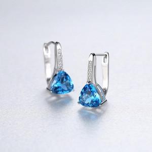 Cercei Argint Signorina Blue Sapphire