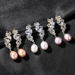 Cercei perle mov Persis