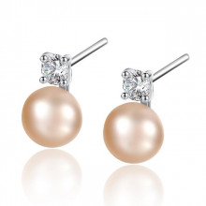 Cercei perle naturale roz Lisa