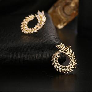 Cercei placati aur galben Tresor D'or