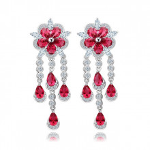 Cercei rosii eleganti Fiorella