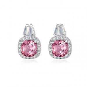 Cercei roz din argint Reina
