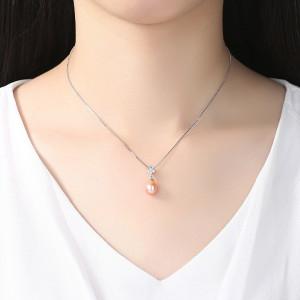 colier perla naturala mov