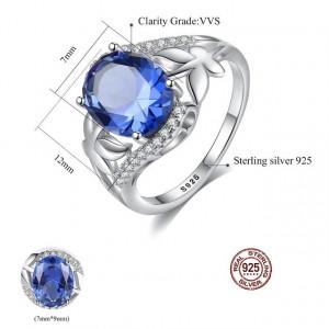 Inel Argint cristale albastre Muse