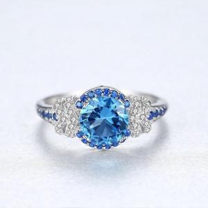 Inel Argint cu pietre albastre Anastasia