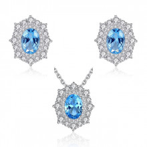 Set bijuterii din argint Amanda