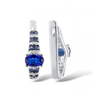 cercei albastri eleganti