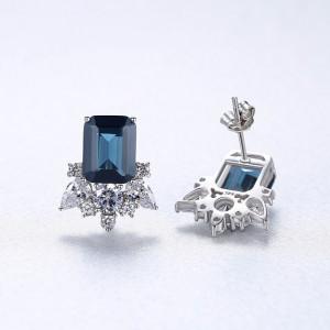 cercei argint cu piatra albastre
