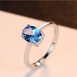 bijuterii argint albastre