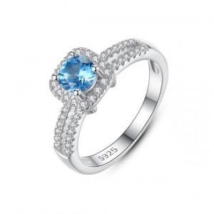 Inel din argint piatra albastra Nina