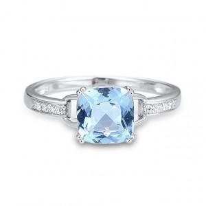 Inel piatra albastra Vivienne