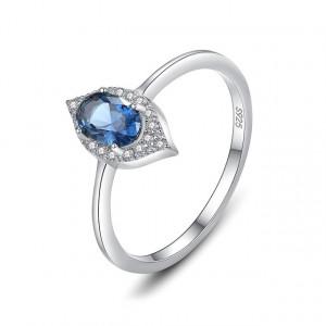 Inel piatra albastra AG925 Aster