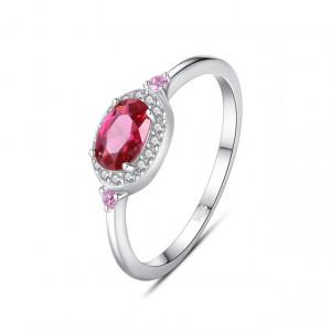 Inel roz inchis din argint Agnesa