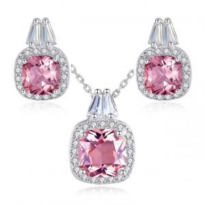 Set bijuterii argint roz Reina