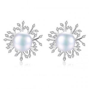 Cercei Argint Perle Naturale Princess