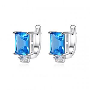 Cercei albastri din argint Elsa