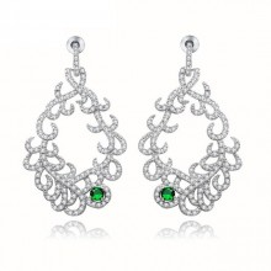 Cercei cristale verzi Ava