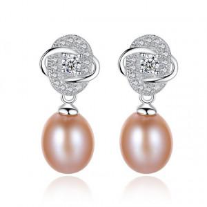 Cercei perle naturale mov Adele