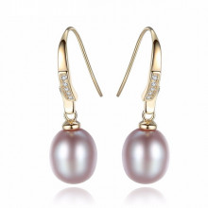 Cercei perle naturale mov Mirena