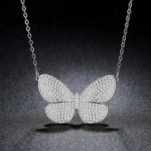 coliere fluture cristale