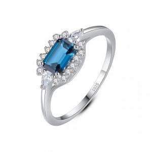 Inel cu piatra albastra AG925 Elena