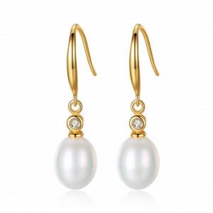 Cercei argint perle naturale Elona (3 culori)