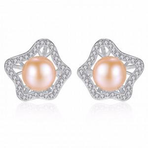 Cercei din argint cu perle naturale Kendall