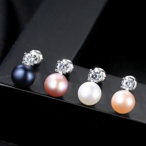 cercei perle naturale lisa