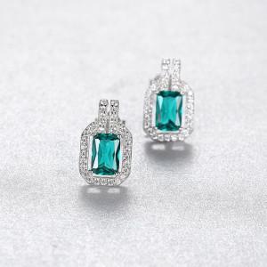 Cercei smarald Elegance