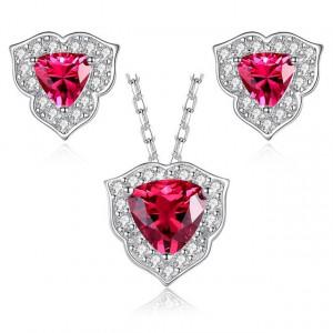 Set bijuterii argint Atena Ruby