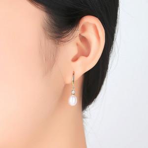 cercei aurii perle naturale