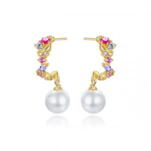 Cercei colorati cu perle Bellona