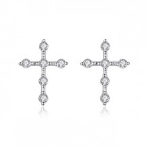 Cercei Cruce din argint 925