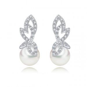 Cercei cu perle si cristale Claire