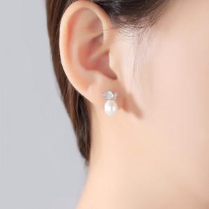 cercei cu perle naturale