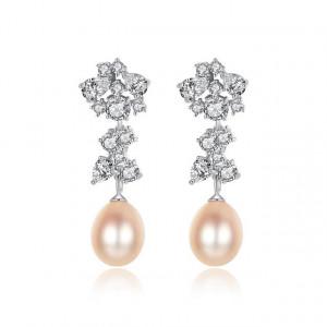 Cercei perle roz Miriam