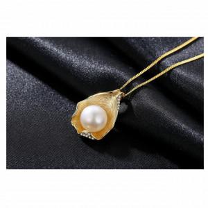 colier perla naturala argint