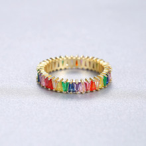 inel auriu din argint Kira