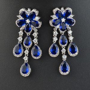 Cercei albastri Fiorella